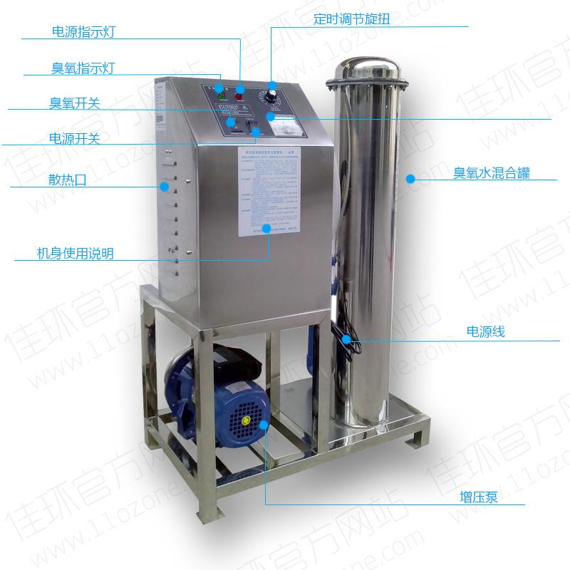 hy-s-5a 广州佳环5g空气源臭氧水机
